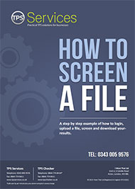How to screen a file