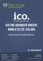 Vincent Bond & Co Ltd Monetary Penalty Notice