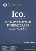 Energy Saving Centre Monetary Penalty Notice as issued by the ICO
