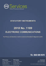 December 2018 amendment to the Privacy Electronic Communications Regulations (PECR)