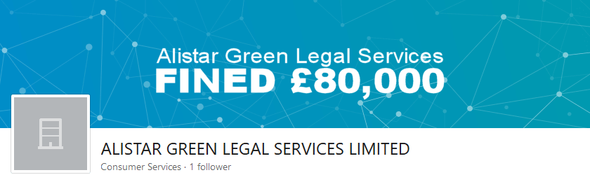 Alistar Green Legal Services Ltd fined £80,000 by ICO