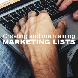 Creating and using marketing lists