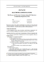 The Privacy and Electronic Communications (EC Directive) (Amendment) Regulations 2016