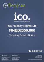 Your Money Rights Monetary Penalty Notice as issued by the ICO