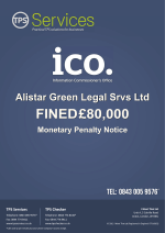 Alistar Legal fined £80000 by the ICO